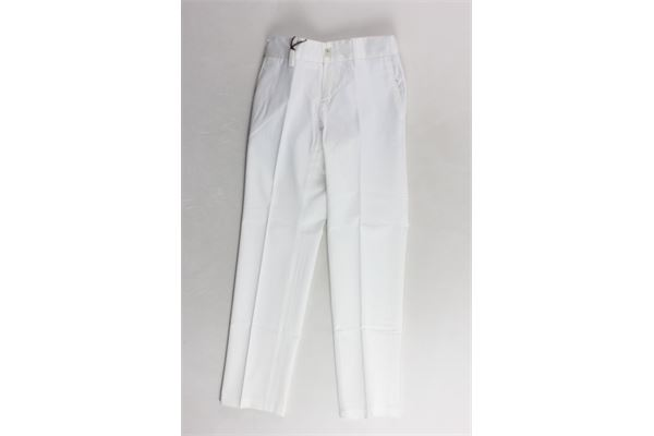 pantalone tinta unita con tasca america I PICCOLI GIOSBRUN | Pantaloni | PAK18S03BIANCO