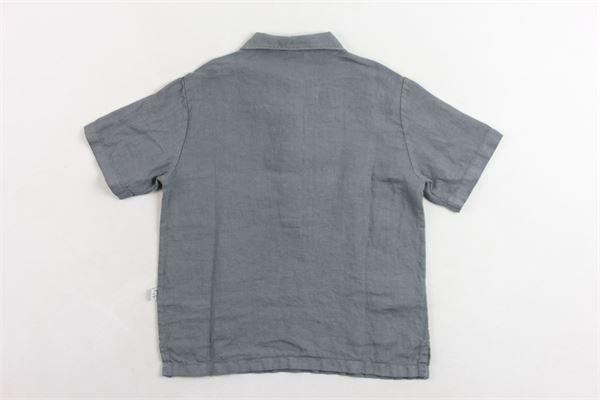 camicia mezza manica 100% lino tinta unita IL GUFO | Camicie | P19PC060L6006GRIGIO