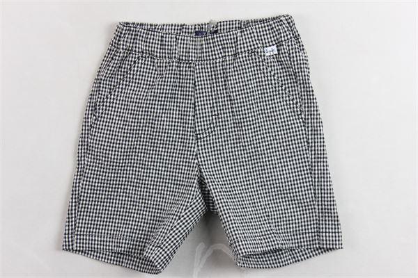 bermuda in cotone elastico in vita tasca americana fantasia a quadri IL GUFO | Bermuda | P20PB084C3116BIANCO