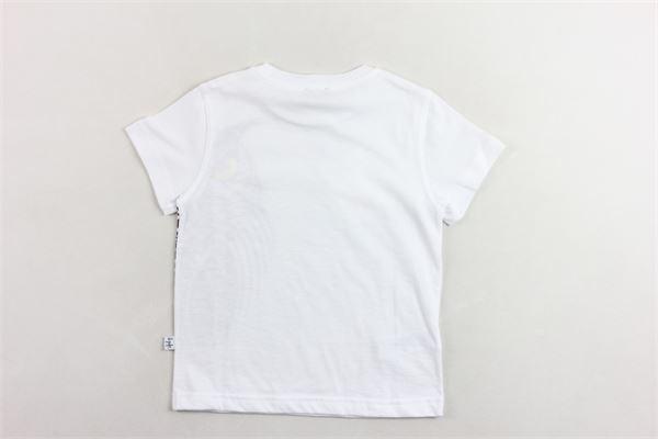 t-shirt mezza manica tinta unita con stampa IL GUFO | T-shirts | P20TS215M0014BIANCO