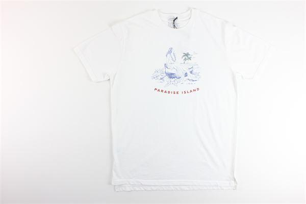 t-shirt tinta unita con stampa IN THE BOX | T-shirts | SS200018BIANCO