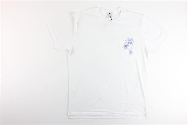 t-shirt tinta unita con stampa IN THE BOX | T-shirts | SS200023BIANCO