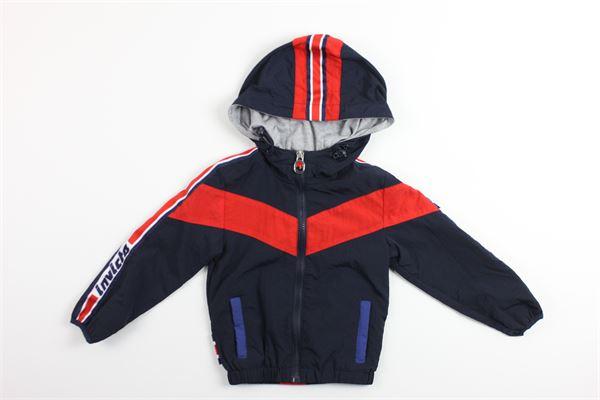 giubbino bicolore con zip e cappuccio INVICTA | Giubbini | 4431554/BROSSO/BLU