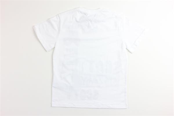 t-shirt mezza manica tinta unita con stampa JEREMY SCOTT | T-shirts | J5M0099BIANCO