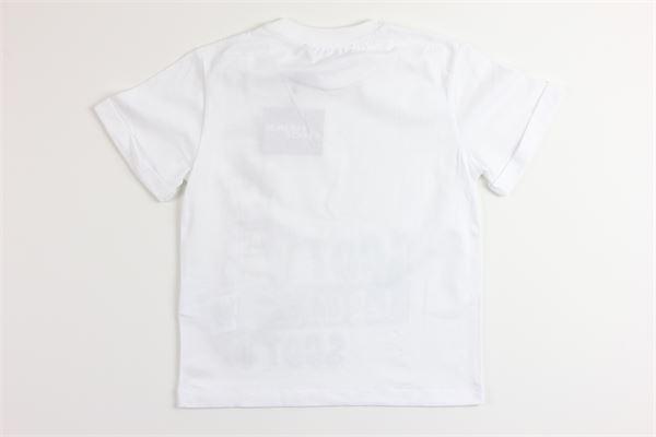 t-shirt mezza manica tinta unita con stampa JEREMY SCOTT | T-shirts | J5M009BIANCO