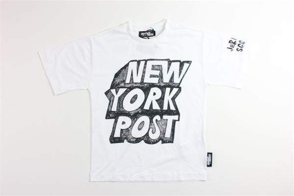 t-shirt tinta unita con stampa JEREMY SCOTT | T-shirts | J5M010BIANCO