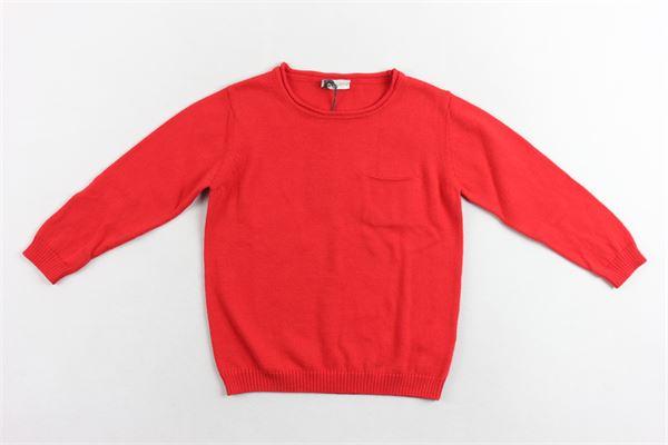 maglione girocollo manica lunga tinta unita con taschino 100% cotone J.O. MILANO | Maglie | 073Z9ROSSO