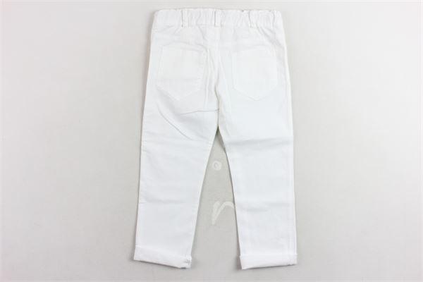 pantalone cinque tasche girovita regolabile tinta unita J.O. MILANO | Pantaloni | 074Z9BIANCO