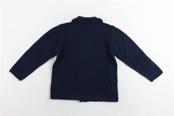 cardigan manica lunga chiusura doppio pettoi tinta unita in cotone J.O. MILANO | Cardigan | 077Z3BLU