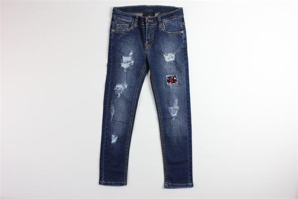 jeans tinta unita girovita regolabile con strappi JOHN RICHMOND | Jeans | RBP18262JEJEANS