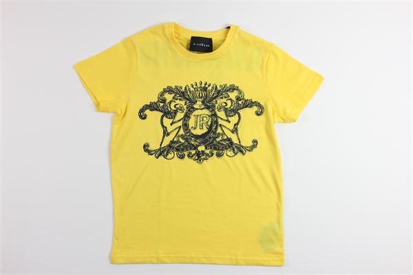 t-shirt tinta unita con stampa e brillantini JOHN RICHMOND | T-shirts | RBP19163TSGIALLO