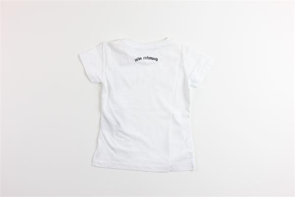 t-shirt mezza manica tinta unita con stampa JOHN RICHMOND | T-shirts | RGP18134TSBIANCO