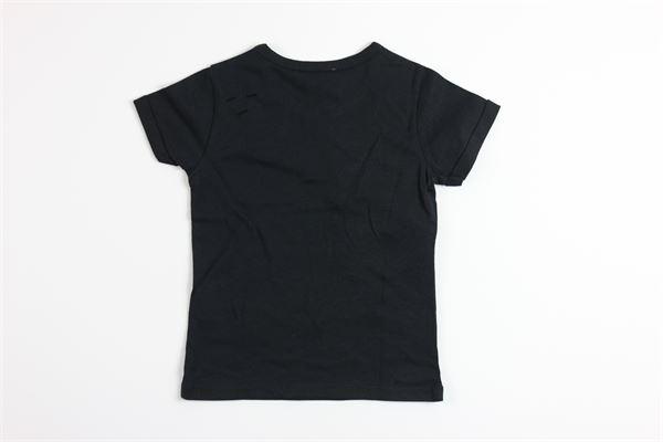 t-shirt mezza manica tinta unita con stampa rose e serpente JOHN RICHMOND | T-shirts | RGP18352TSNERO