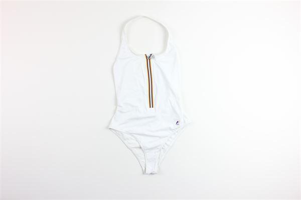 costume intero tinta unita con profili in contrasto K-WAY | Costumi | K004W80BIANCO