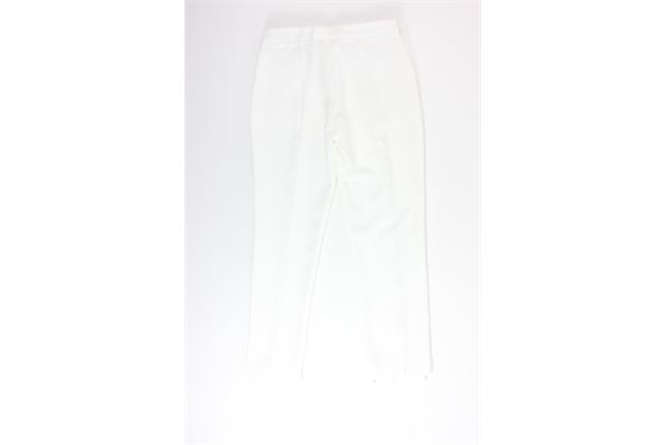 pantalone a palazzo tinta unita KAOS | Pantaloni | MP1CO007BIANCO
