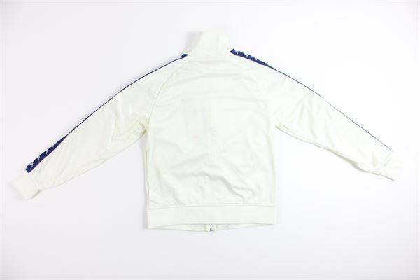 felpa triacetata tinta unita con zip e profili in contrasto KAPPA | Felpe | 301EFUBIANCO/BLU