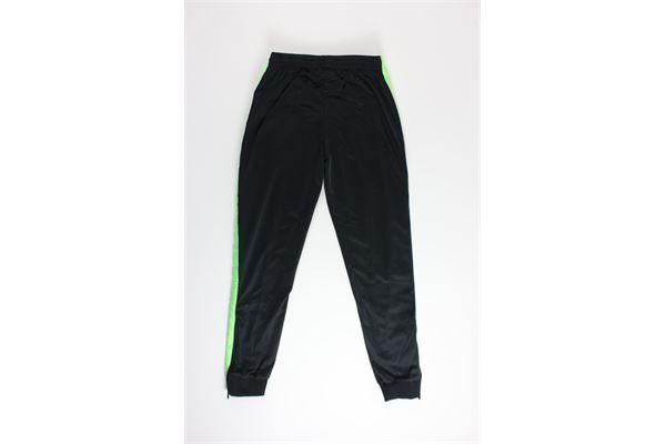 pantalone di tuta triacetato tinta unita con profili in contrasto KAPPA | Pantaloni | 303KUCONERO/VERDE