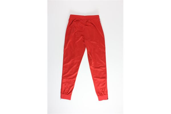 pantalone di tuta triacetato tinta unita con profili in contrasto KAPPA | Pantaloni | 303KUCOROSSO