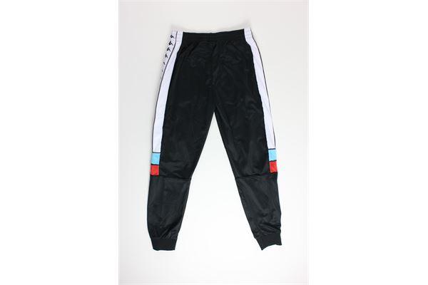 pantalone tinta unita con profili in contrasto KAPPA | Pantaloni | 303LP70NERO