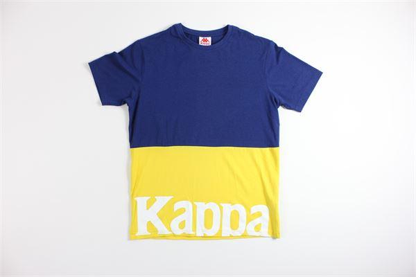 t-shirt mezza manica bicolore con stampa KAPPA | T-shirts | 304S430GIALLO/BLU