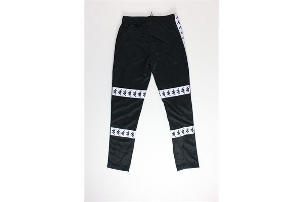 pantalone tuta tinta unita con profili in contrasto KAPPA | Pantaloni | 304U860NERO