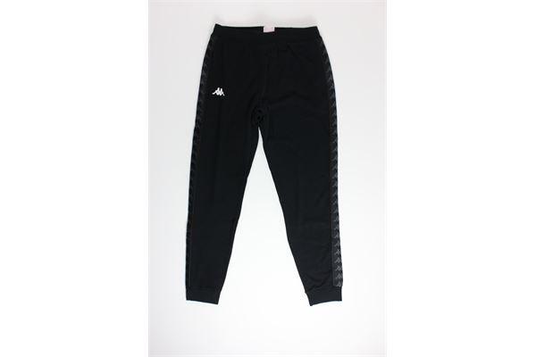 pantalone tuta tinta unita con profili in contrasto KAPPA | Pantaloni | 3111HZWNERO