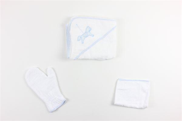 set compreso di accapatoio guanto e asciugamano LA SARTORIA DEI PICCOLI | Accappatoi | L411BIANCO