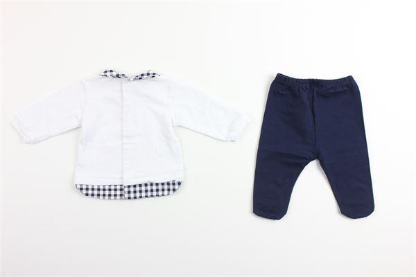 shirt tinta unita con stampa pantalone tinta unita LALALU' | Completi | CJL3CBLU/BIANCO