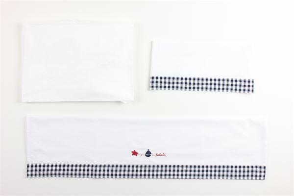 completo lenzuolino carrozzino LALALU' | Coperte | LCL3CBIANCO