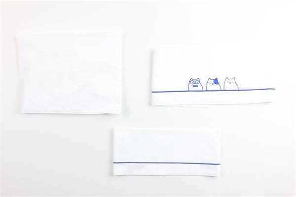 completo lenzuolino carrozzino LALALU' | Coperte | LCL4CBIANCO