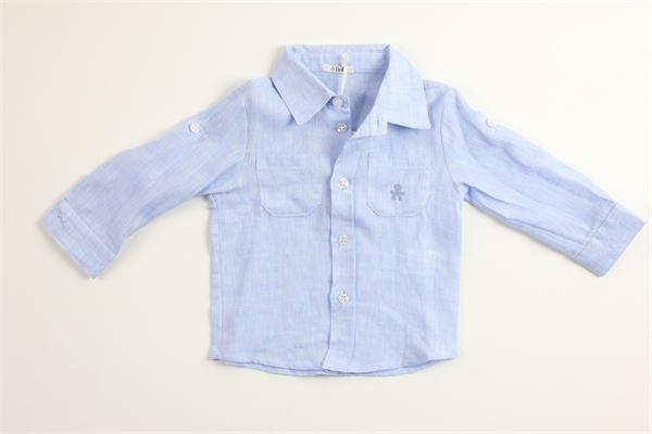 camicia tinta unita 100%lino LE BEBE' | Camicie | LBB1001CELESTE