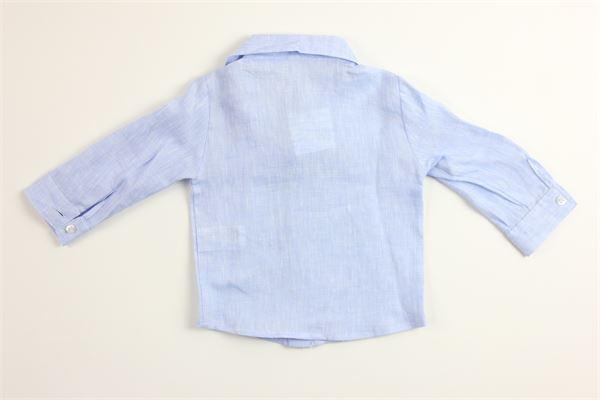 camicia tinta unita 100%lino LE BEBE'   Camicie   LBB1001CELESTE