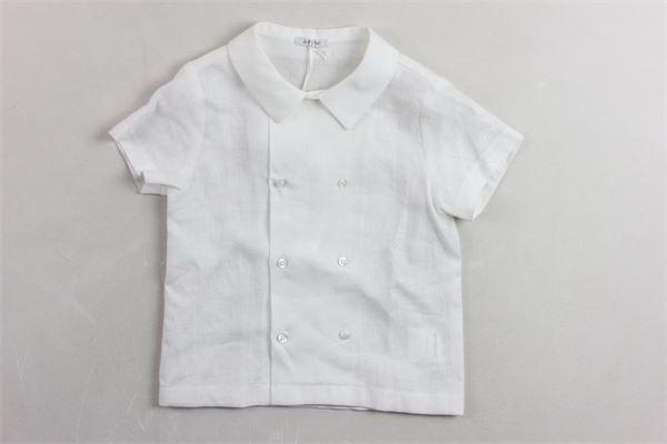 camicia mezza manica doppio petto LE BEBE'   Camicie   LBB1105BIANCO