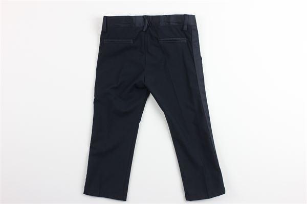 pantalone tinta unita con girovita regolabile LE BEBE'   Pantaloni   LBB1934BLU