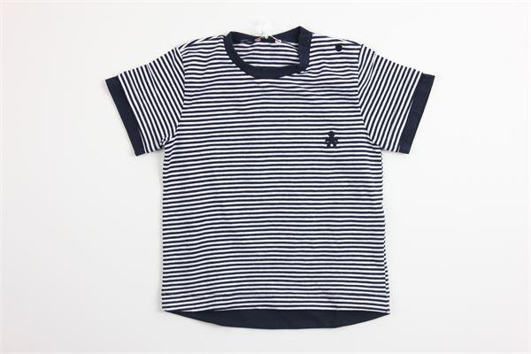t-shirt mezza manica tinta unita fantasia a righe LE BEBE' | T-shirts | LBB1969BLU