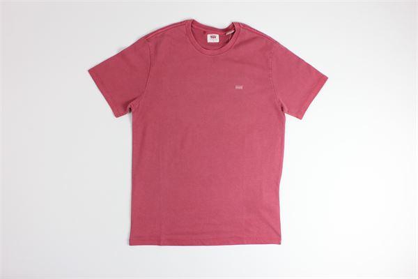 t-shirt tinta unita con stampa logo LEVI'S | T-shirts | 171640008BORDEAUX