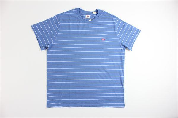 t-shirt mezza manica tinta unita fantasia a righe LEVI'S | T-shirts | 17164CELESTE