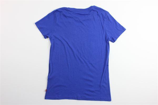 t-shirt tinta unita con stampa logo LEVI'S | T-shirts | 17369-0407BLU