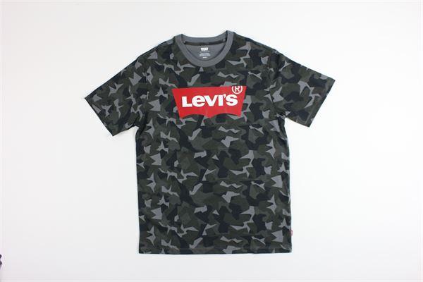 t-shirt mezza manica tinta unita con stampa LEVI'S | T-shirts | 224890246VERDE MILITARE