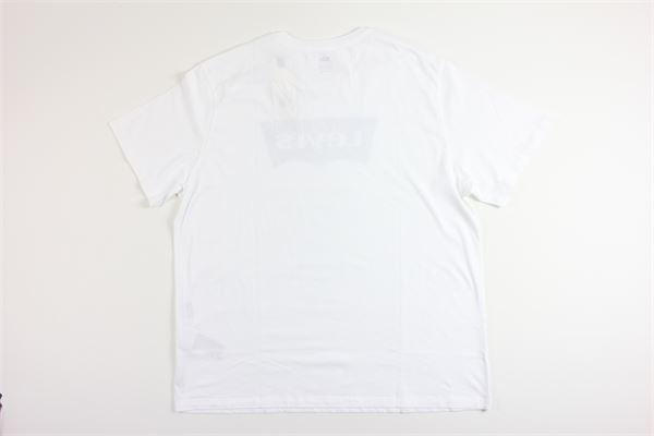 t-shirt mezza manica tinta unita con stampa LEVI'S | T-shirts | 224890249BIANCO