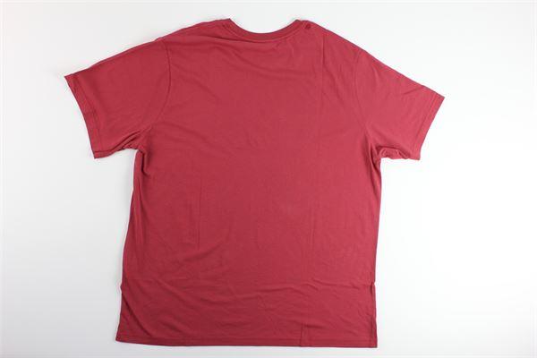 t-shirt tinta unita con stampa logo LEVI'S | T-shirts | 699780059BORDEAUX