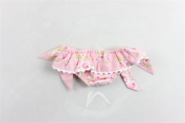 slip tinta unita fantasia rose e pois con fiocchi LITTLE BEAR | Costumi | 5405ROSA