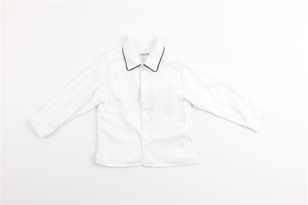 camicia manica lunga tina unita profili in contrasto 100%cotone ALICE PI | Coprispalle | 6238BIANCO