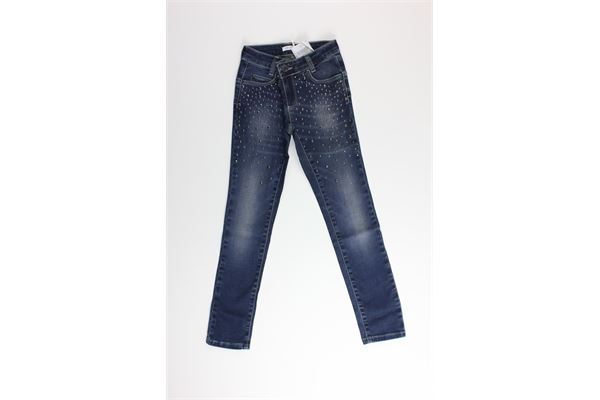 jeans tinta unita con applicazione LIU JO | Jeans | G67144BLU