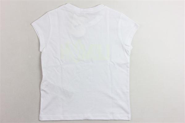 t-shirt mezza manica tinta unita con stampa LIU JO | T-shirts | GA0093J5923BIANCO