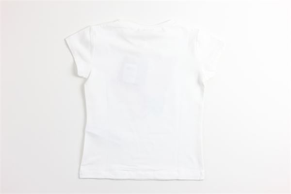 t-shirt tinta unita con stampa LIU JO | T-shirts | KA0048BIANCO