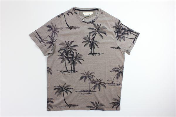 t-shirt mezza manica tinta unita con stampa LORENZONI | T-shirts | 19064101LMARRONE