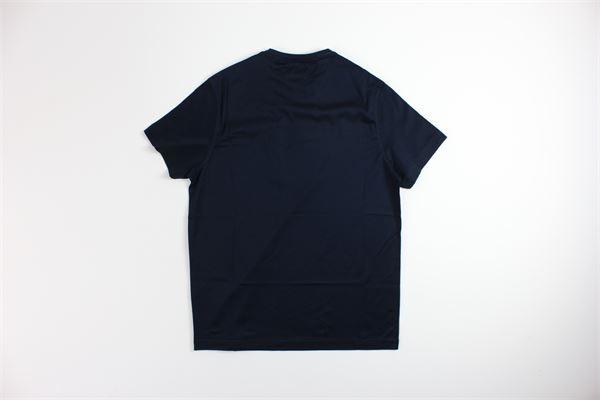t-shirt mezza manica tinta unita con stampa LORENZONI | T-shirts | 19064201LBLU