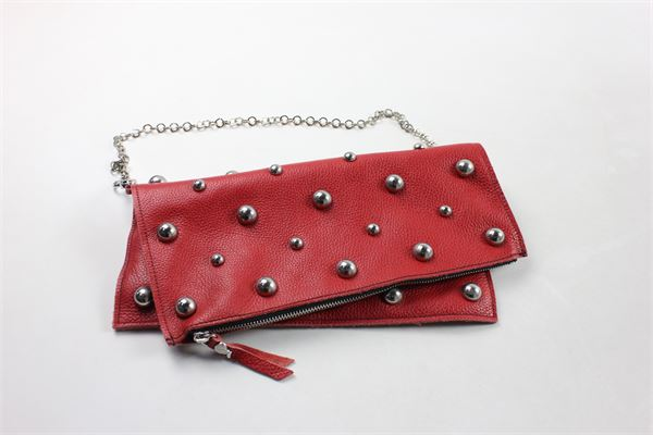 pochette con borchie in pelle LUNABAG | Borse | BORSALUNABAG1ROSSO