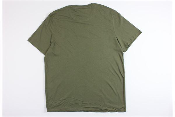 t-shirt mezza manica tinta unita LYLE&SCOTT | T-shirts | 202761VERDE MILITARE